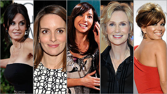 Click here to vote for your favorite TV comedy actress The nominees are: Courteney Cox Tina Fey Alyson Hannigan Jane Lynch Eva Longoria Parker
