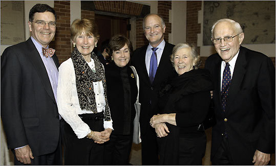 Dr. James Everett and his wife, Cathy, of Scituate, Holly Safford and her husband, Chuck Weilbrenner, of Duxbury and Jean and Ted Safford of Duxbury.