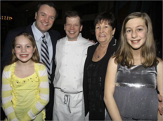 Tiffany St. Croix and her dad, Ed St. Croix, of Hull, Paul Wahlberg of Hingham and his mother, Alma Wahlberg of Braintree, and Madison Wahlberg of Hingham.