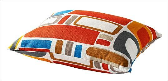 "IKEA ""Vilmie Ruta"" ramie cushion, $9.99 at IKEA, 1 IKEA Way, Stoughton, 781-344-4532, http://www.ikea.com"