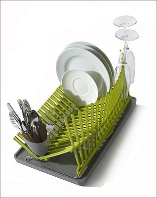 "BLACK + BLUM ""High & Dry"" polypropylene and stainless-steel dish rack, $50 at ICA Store, 100 Northern Avenue, Boston, 617-478-3100, http://www.icaboston.org"