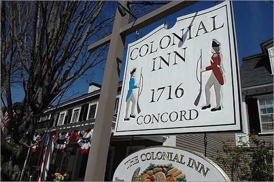 At Concord's Colonial Inn , the sitting room with fireplace has one couch and plenty of chairs, and anyone is welcome to sit down and toast up. Conveniently, there are also two bars down the hall. 48 Monument Square, Concord, 978-369-9200, http://www.concordscolonialinn.com