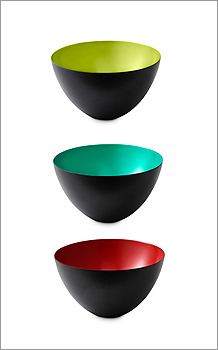 "NORMANN COPENHAGEN ""Krenit"" enameled-steel bowls, $16 to $135 (depending on size) at Abodeon, 1731 Massachusetts Avenue, Cambridge, 617-497-0137, http://www.abodeon.com"