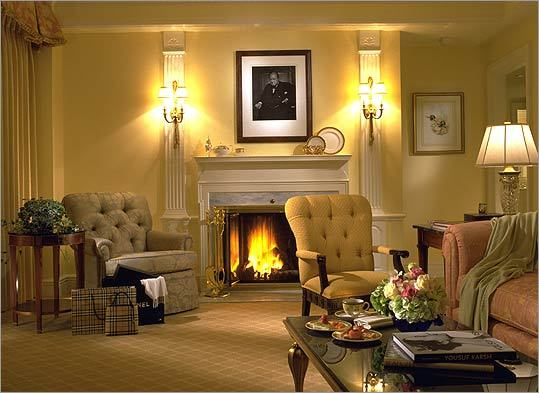 For an entire night of fireplace luxury – including the services of a butler, who lights it for you – the Taj Boston , across from the Public Garden, has 45 suites with wood-burning fireplaces (from $375 per night). Or simply stop into the elegant bar and enjoy a drink in front of the fireplace there. 15 Arlington Street, Boston, 617-536-5700, http://www.tajhotels.com/boston