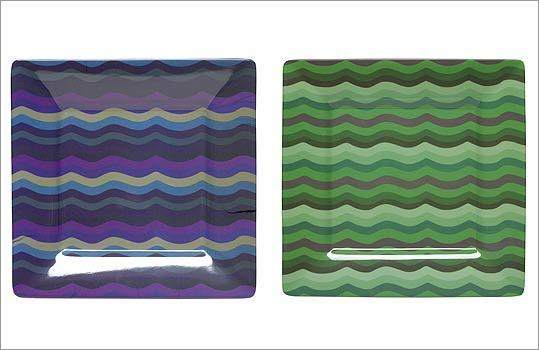"HUDSON ""Jazz"" melamine plates, $15 each at Hudson, 61A Central Street, Wellesley, 781-239-0025, http://www.hudsonboston.com"