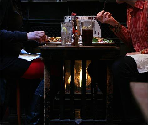 You gotta have hearth: Where to find the warmest seats in the house. The Squealing Pig gastropub in Roxbury Crossing has a cozy side room with a fireplace and six small tables. For an extra shot of warmth, try the hot toddy ($7). 134 Smith Street, Roxbury, 617-566-6651, http://www.squealingpigboston.com