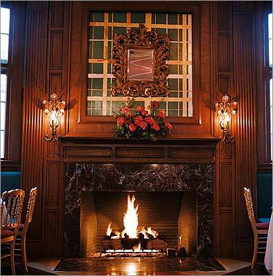 UpStairs on the Square has two fireplaces in the elegant Soiree dining room and two downstairs in the bar. Leave the bustle of Harvard Square and get cozy with a glass of wine (from $8), or make a reservation for a special dinner. 91 Winthrop Street, Cambridge, 617-864-1933, http://www.upstairsonthesquare.com