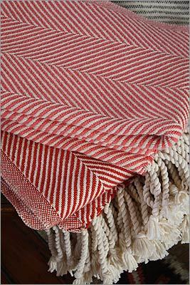 Brahms Mount Cotton herringbone throw, $225 at Twelve Chairs, 319 A Street, Boston, 617-701-3496, http://www.twelvechairsboston.com