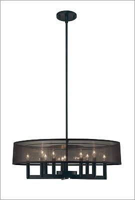 "8. Sonneman ""Silhouette"" 10-light drum chandelier in satin black, $900 at Yale Appliance + Lighting, 296 Freeport Street, Boston, 866-851-9193, http://www.yale-appliance.com"