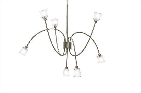 "9. IKEA ""Kryssbo"" height-adjustable pendant lamp with halogen bulbs, $59.99 at IKEA, 1 IKEA Way, Stoughton, 781-344-4532, http://www.ikea.com"