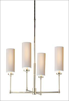 "7. Visual Comfort Thomas O'Brien ""Ziyi"" four-light chandelier, $396 at Chimera, 327 A Street, Boston, 617-542-3233, http://www.chimeralightingdesign.com"