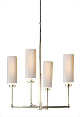 "7. Visual Comfort Thomas O'Brien ""Ziyi"" four-light chandelier, $396 at Chimera, 327 A Street, Boston, 617-542-3233, http://www.chimeralightingdesign.com"