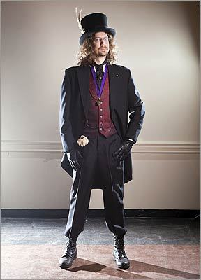 For inspiration, check out the period costumes and gritty machinery in the recent Sherlock Holmes movie starring Robert Downey Jr., then punk it up like David Burbank, 41, of Allston, who added combat boots and assorted eccentric period accessories.