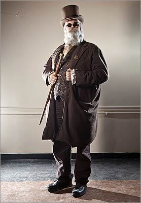 Steve Salisbury, 51, of North Providence, R.I., said Civil War reenactments are great places to find Victorian menswear pieces for sartorial steampunk.