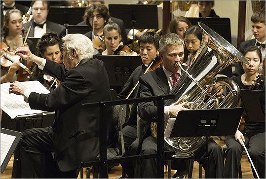Tuba player Mike Roylance Orchestra Tuba Player