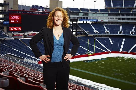 MBA IN THE NFL Patriots VP Jessica Gelman says analytics has helped level the field for women in pro sports.