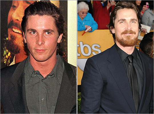 Another actor who has let it 'grow' is best supporting actor winner Christian Bale of 'The Fighter.' Check out his clean-cut look at the premiere of 'William Shakespeare's A Midsummer Night's Dream' in 1999 (left) compared with his latest appearance at the Screen Actors Guild Awards on Jan. 30, 2011 (right).