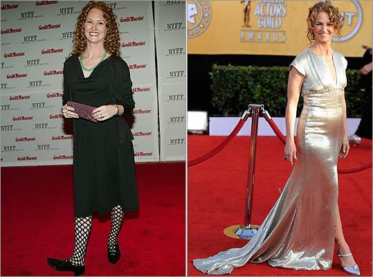 Talk about a transformation. Best supporting actress winner Melissa Leo of 'The Fighter' showed a far different look at the Screen Actor Guild Awards on Jan. 30, 2011 (right) than she showed at the premiere of '21 Grams' in 2003 (left).