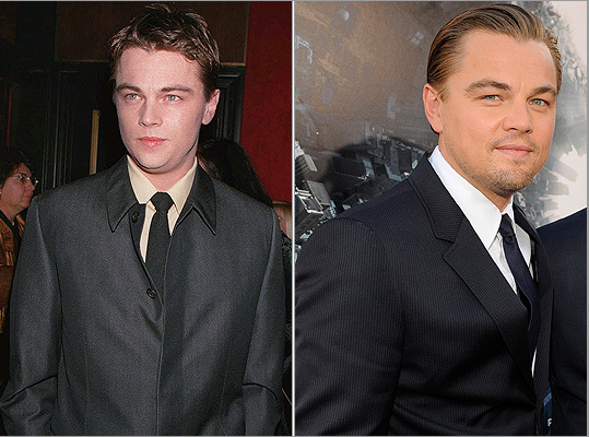 With the arrival of the Oscars comes the inevitable interest in red carpet fashion. How have some of Hollywood's most notable actors and actresses changed with the times? Take a look back at some of this year's nominees -- like Leonardo DiCaprio (pictured) -- and some Academy Awards staples. While DiCaprio was a fresh-faced, newly-minted star in 1998 (left, at the 'Man in the Iron Mask' premiere), these days he is full-on Hollywood royalty, with the slick hair to match (right, at the 'Inception' premiere in July 2010).