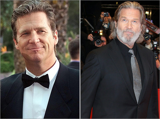 Since his appearance at the Sporting Club of Monte Carlo for the Laureus Sports Awards in May 2000, best actor nominee Jeff Bridges of 'True Grit' has gone from clean-shaven to hirsute. At right, Bridges at the International Berlinale Film Festival on Feb. 10, 2011.