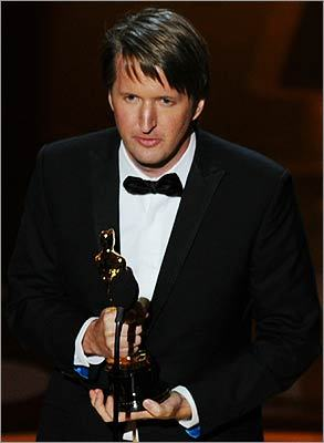 Tom Hooper gave his mother the credit for the inspiration behind 'The King's Speech' during his acceptance speech for best director.