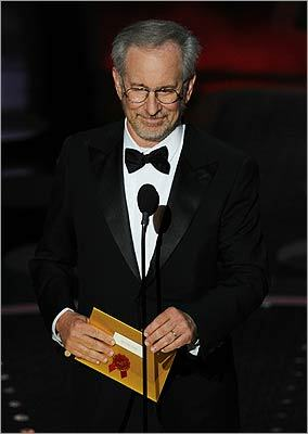 Steven Spielberg presented the award for best motion picture of the year as the titular speech from 'The King's Speech' played over clips from the 10