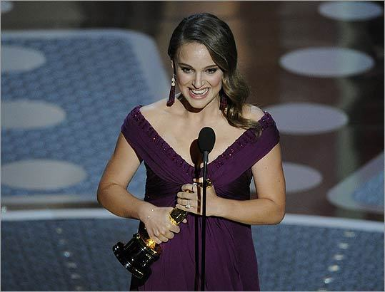 Natalie Portman shed tears of joy during her acceptance speech for best actress for 'Black Swan.' It was her first win.