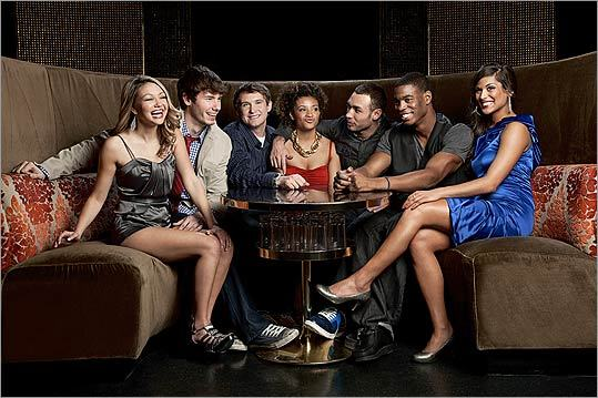 Starting its 25th season this week, 'The Real World' goes to Las Vegas for a hot-tub party and more with its cast (from left): Heather, Dustin, Michael, Naomi, Adam, Leroy, and Nany.