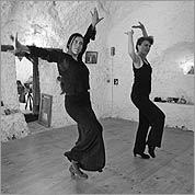 SPANISH STEPS Newton's Carol Reichert learns to dance flamenco from one of her teachers, Carmen Alvarez.