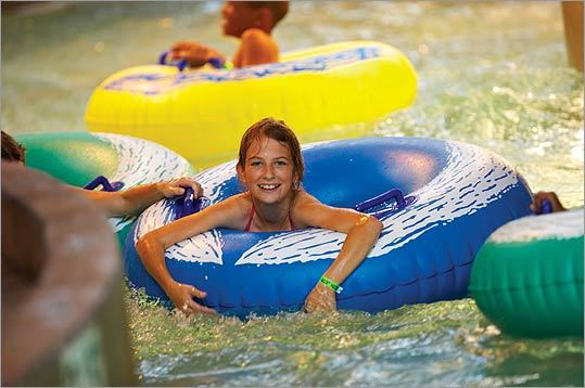 WET AND WILD Try tubing at the CoCo Key Water Resort, with two Bay State locations.
