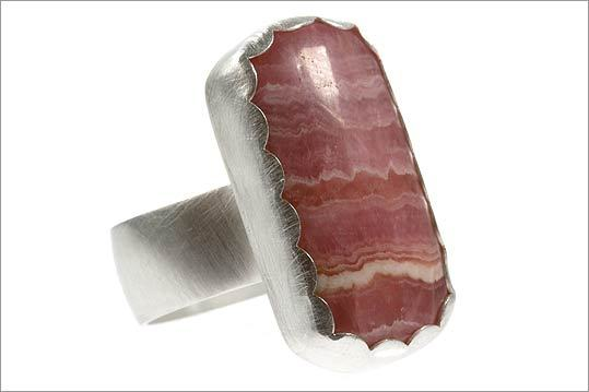 LAURA PRESHONG Rhodochrosite and sterling ring, $320 at Laura Preshong, 558 Tremont Street, Boston, 617-236-7660, http://www.laurapreshong.com