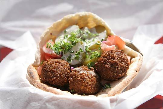Pocketful of dreams Good falafel is hard to come by in these parts. Few places get both the texture and the spice right. Rami's in Brookline does. The falafel here is crisp on the outside without being mushy on the inside. Get the hummus falafel in pita with pickles, cabbage, tomato, lettuce, cucumbers, tahini, and hot sauce. For a few minutes, you'll feel transported to Jerusalem. – D.F. 324 Harvard St., Brookline. 617-325-2335. ramisboston.com