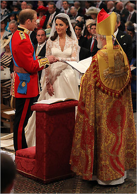 Prince William exchanged rings with his bride, Kate Middleton, on their wedding day, Friday, April 29, 2011, in Westminster Abbey.