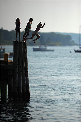 Legendary clam shacks. Idyllic beaches. Meandering bike rides. That's what summertime here is all about. Whether you want to kayak in the ocean, zip down a mountain, or just cozy up in a rocking chair on a country porch, your vacation is waiting at one of these 20 destinations. Peaks Island, Maine Only a 20-minute ferry ride from Portland, 2-mile-long, 1-mile-wide Peaks Island gets you away from the mainland but not too far from civilization. Complete details and more activities in Maine