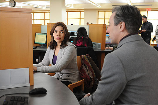 America Ferrera (pictured, with Alan Cumming) played a bilingual undocumented immigrant on 'The Good Wife.'
