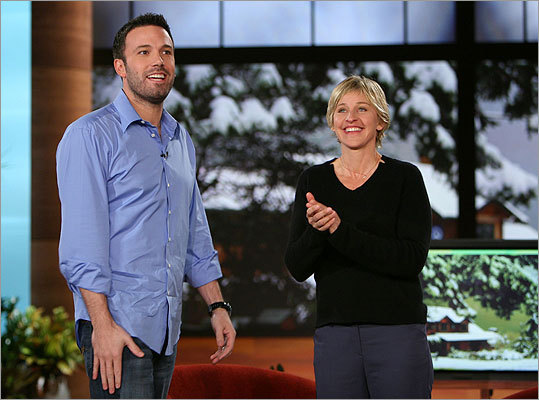 If you miss the format... 'The Ellen DeGeneres Show' (4 p.m., weekdays, WCVB, Ch. 5) If you still seek the whole-package gabfest, this funny woman's mix of celeb, lifestyle, and ordinary folks talk is the best place to go. Pictured: DeGeneres with Ben Affleck.