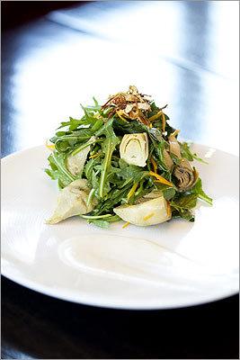 AKA BISTRO The artichoke salad at Aka Bistro in Lincoln.