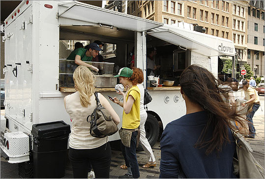 CLOVER FOOD TRUCK Check for current locations You can smell a Clover food truck before you see one, thanks to the heavy dose of rosemary sprinkled on fresh-cut fries. See more food trucks
