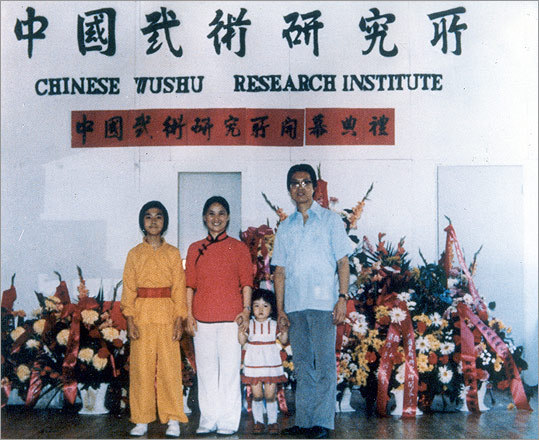 Mark and family at the opening of her Boston school.