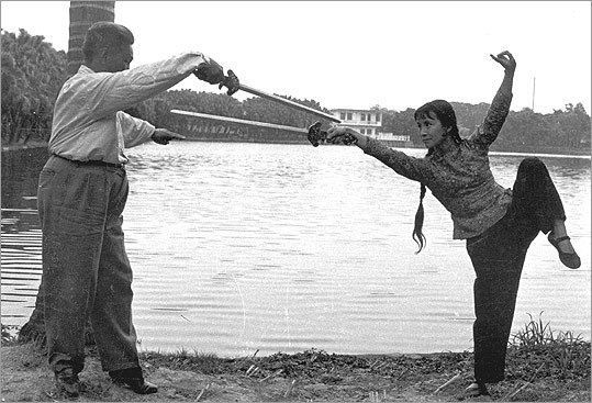 Mark trains with legendary swordsman Fu Wing Fay in the 1960s.