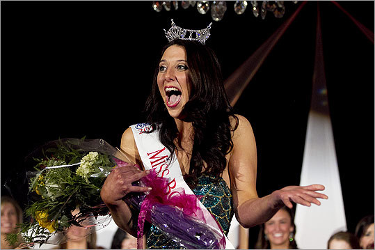 On July 9 in Worcester, 15 women who won preliminary pageants around the state, like Sara Carlisle of Boston (pictured), will try to become Miss Massachusetts 2011. The winner will go on to compete for Miss America. Take a look at the competition's history and numbers. — Hilary Levey Friedman
