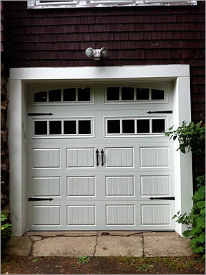 'Garage doors are the first thing that you see normally,' says David Plouffe, owner of New England Overhead Door.