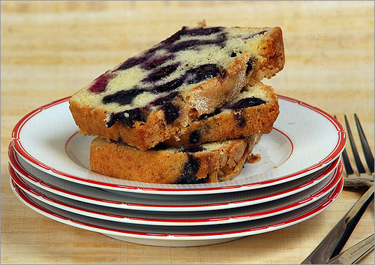 Blueberry loaf cake The crusty top on this unadorned cake comes from sprinkling with granulated sugar before baking. Recipe