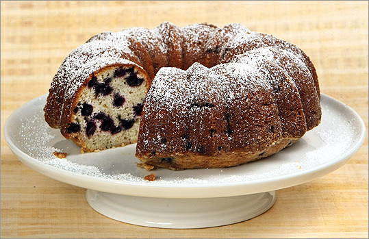 "Bundt cake with wild Maine blueberries This recipe came to Anne Moseley, co-owner of Harpswell Inn in Harpswell, Maine, from her cousin Jane. Moseley added lemon rind and flavoring. The recipe came with this instruction: ""Lovingly fold in 2 cups blueberries.'' In Maine, that always means wild berries, almost always frozen. Measure the berries but keep them frozen until using. Recipe"