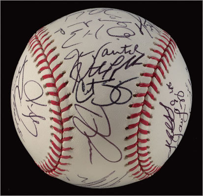 Baseball signed by 2007 World Champion Boston Red Sox team. $1,500 - $2,000