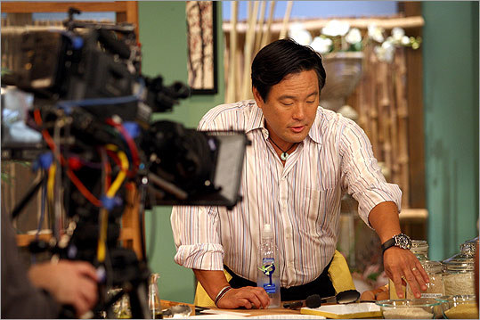 Ming Tsai, in a studio in Milford, is a national presence on his PBS show.