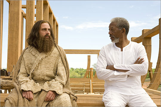 'Evan Almighty' (2007): Evan Baxter (Carell) is the next one anointed by God (Morgan Freeman) to accomplish a holy mission: build an ark for a flood.