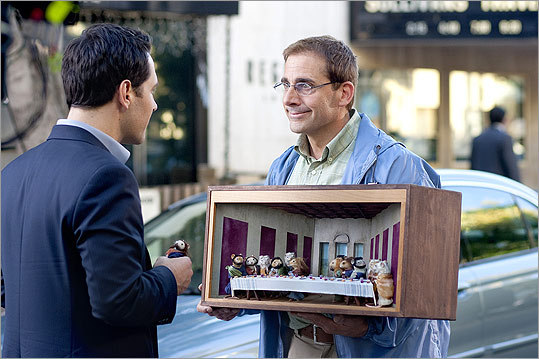 'Dinner for Schmucks' (2010): From left, Tim (Paul Rudd) has chosen Barry (Carell) as the perfect guest to invite to a dinner party where the winner of the evening is whoever brings the biggest buffoon.