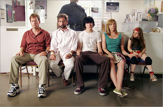 'Little Miss Sunshine' (2006): From left, Greg Kinnear, Carell, Paul Dano, Toni Collette, and Abigail Breslin in this story about a fractured family's trip to a beauty pageant.