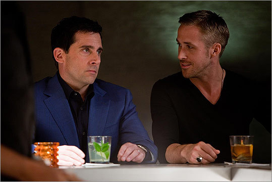 'Crazy, Stupid, Love' (2011): Wingman Jacob Palmer (Ryan Gosling) tries to help Cal Weaver (Carell) get on with his life after his wife cheats on him.